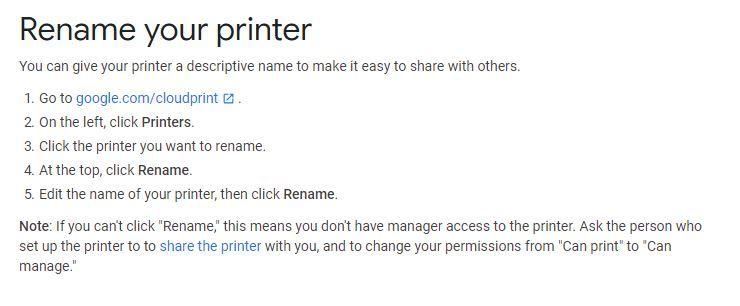 Printer Names Not Unique When Printing from a Chromebook