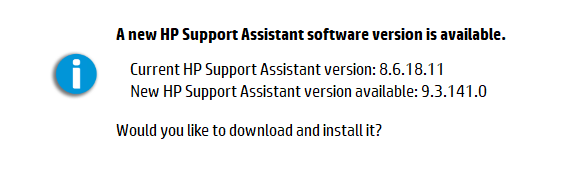 hp support assistant download australia