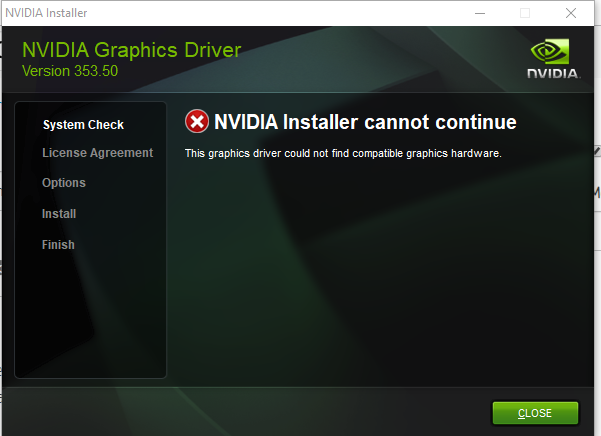 nvidia control panel and nvidia graphic card missing from de