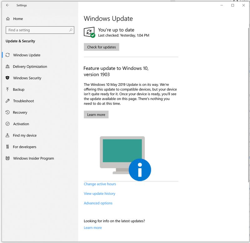 When will I be able to update to 1903 version of Windows 10? - HP