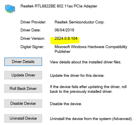 Solved: Re: Wi-Fi is not stable    realtek rtl8822be 802 11ac pcie