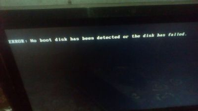 1: Error on boot