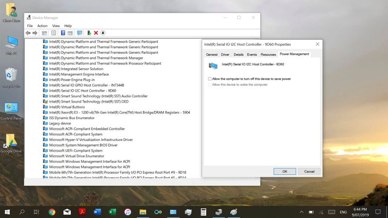 I have unticked the allow computer to turn off this device to save power