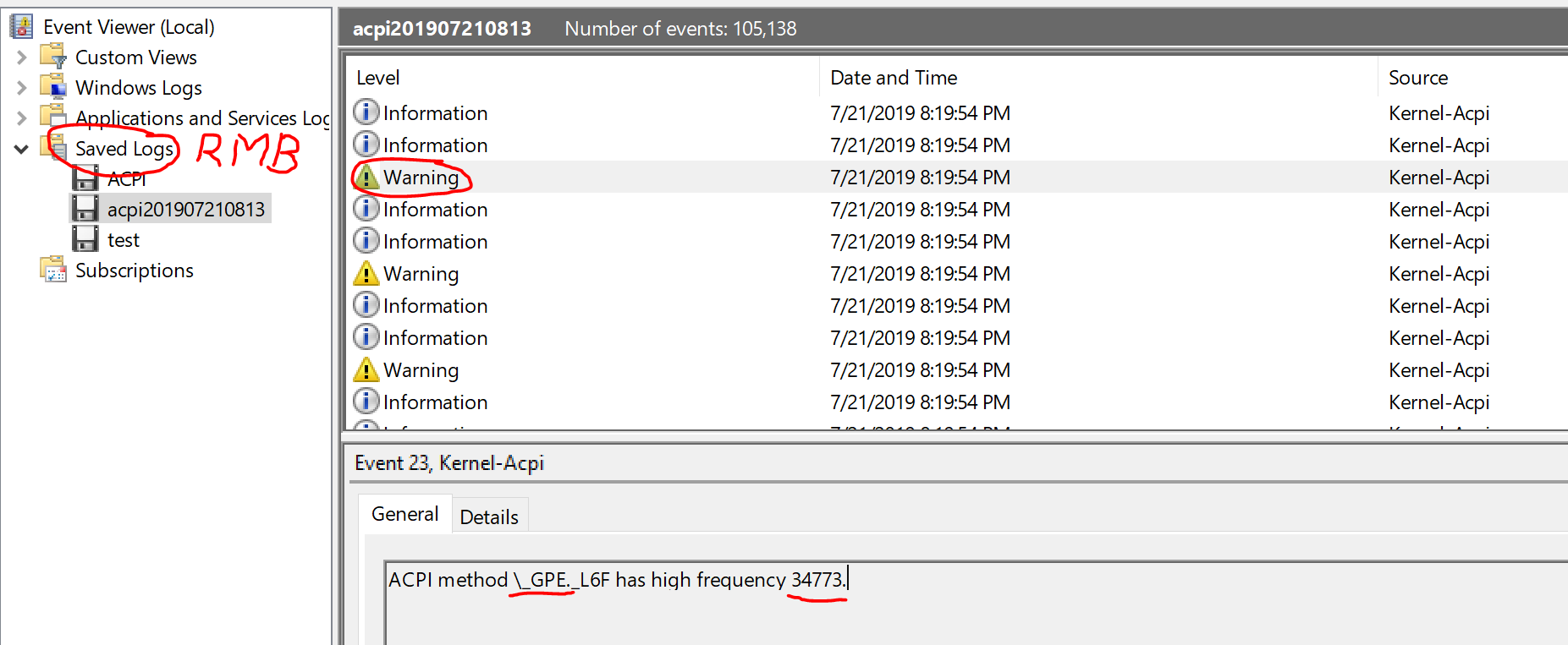 High CPU Usage - System/ACPI sys - GPE L6F Storm [Omen 15/17