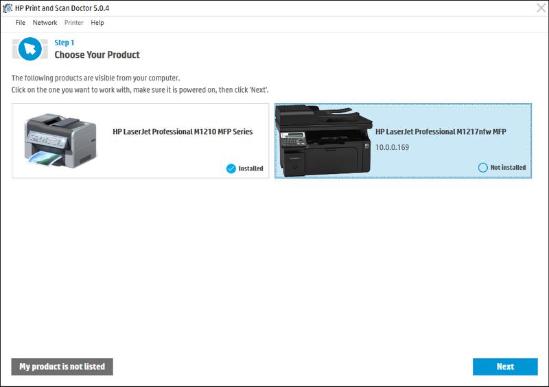 hp laserjet m1217nfw mfp driver windows 7 download