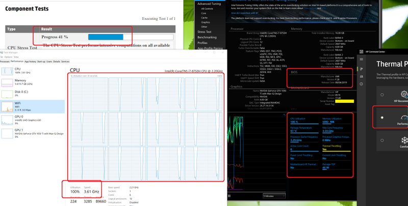 CPU slowing right down, and CPU utilization throttled as wel
