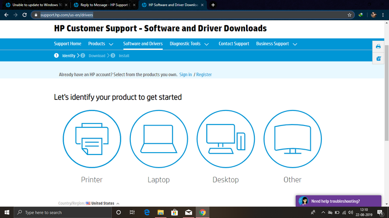 On this page this screen will open here identify your product