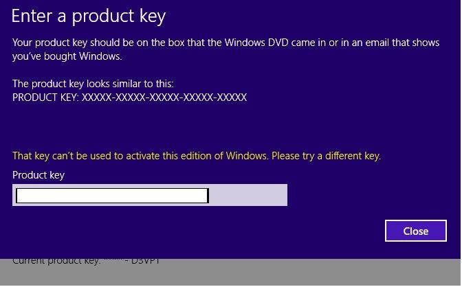 Error while entering original key.jpg