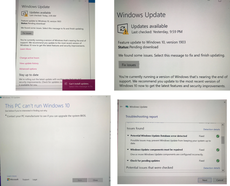 Solved: Windows 10 Version 1903 won't download or Install