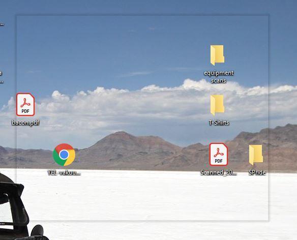 transparent application window