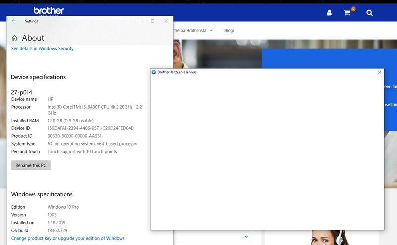 white application window
