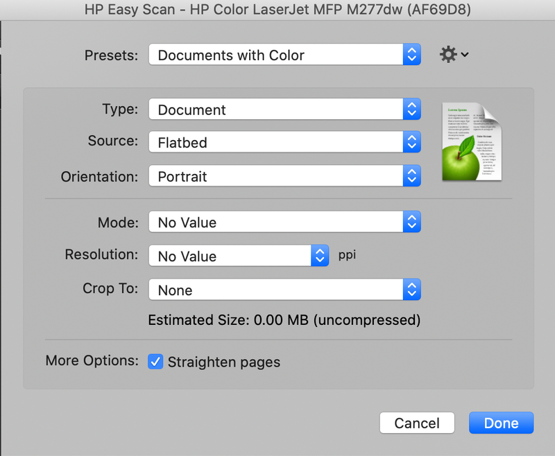Hp easy scan catalina