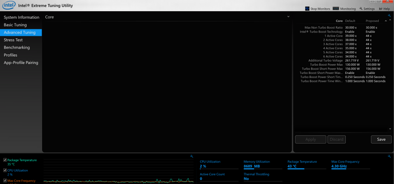 NOt able to access overclocking after a while . And showing only 6 cores OC