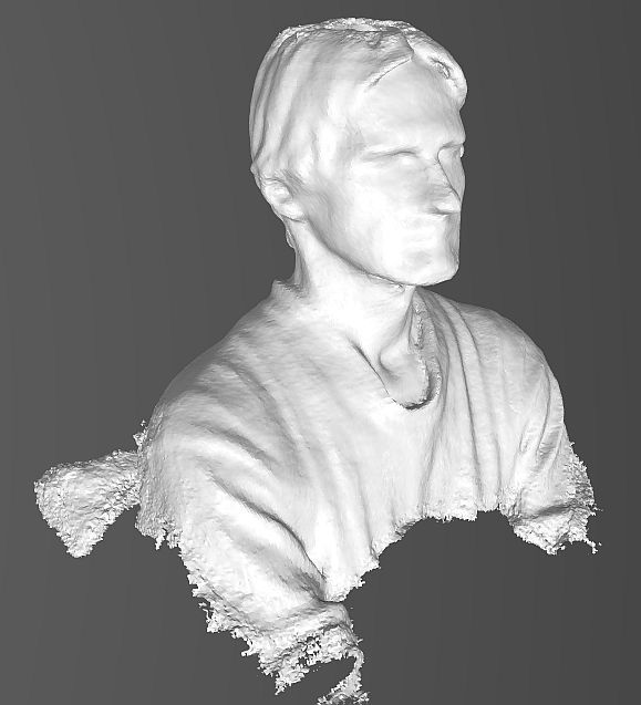 Self-portrait with xBox360 as 3D scanner