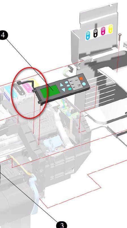 Window sensor arm, Designjet 500