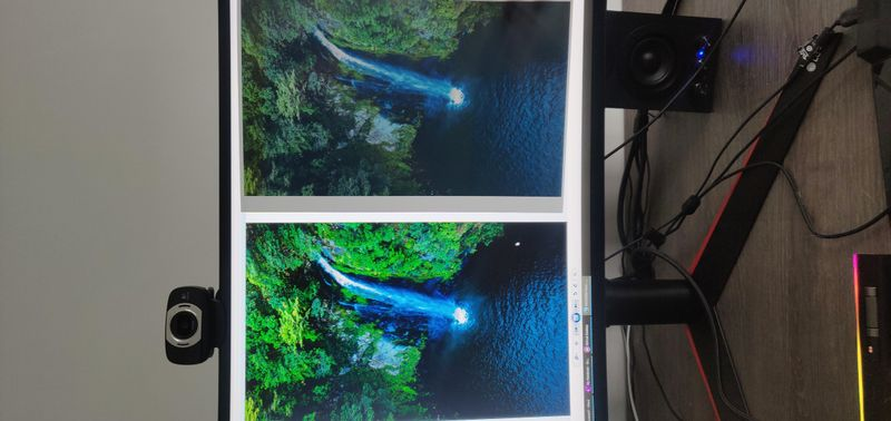 Left is monitor, right is printed version