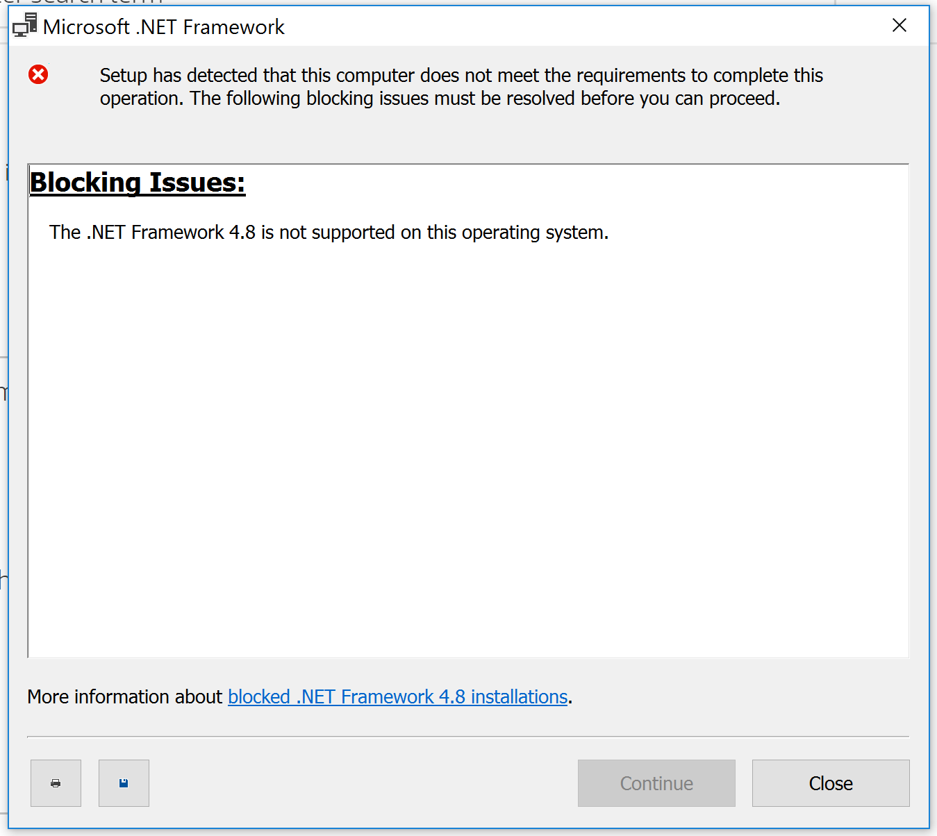 NET Framework 20.20 is not supported   HP Support Community   72095365