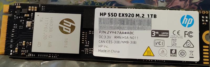EX920 Label