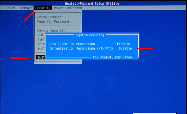 Solved: How to Enable Intel Virtualization Technology (vt-x) on HP P