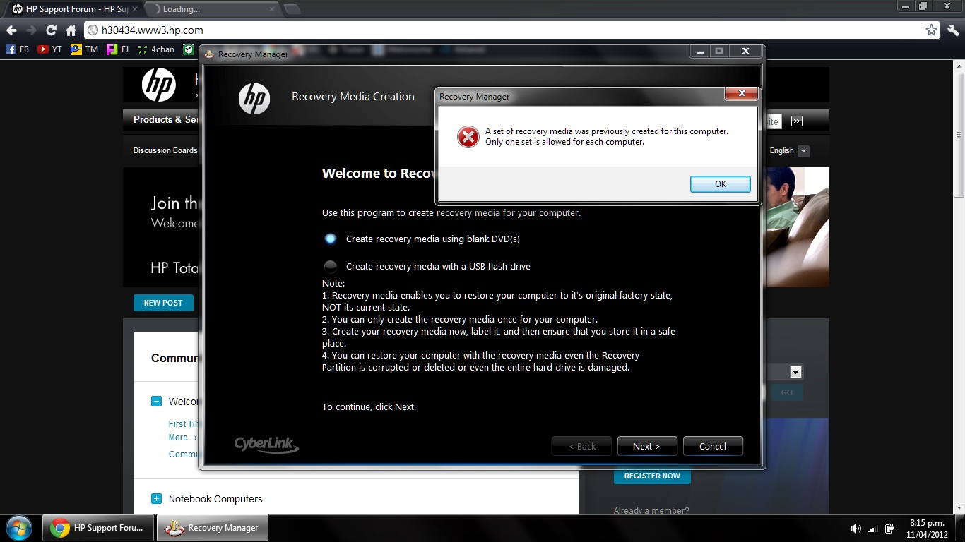 Summary -> Download Original Hp Recovery Image Solved Windows 7