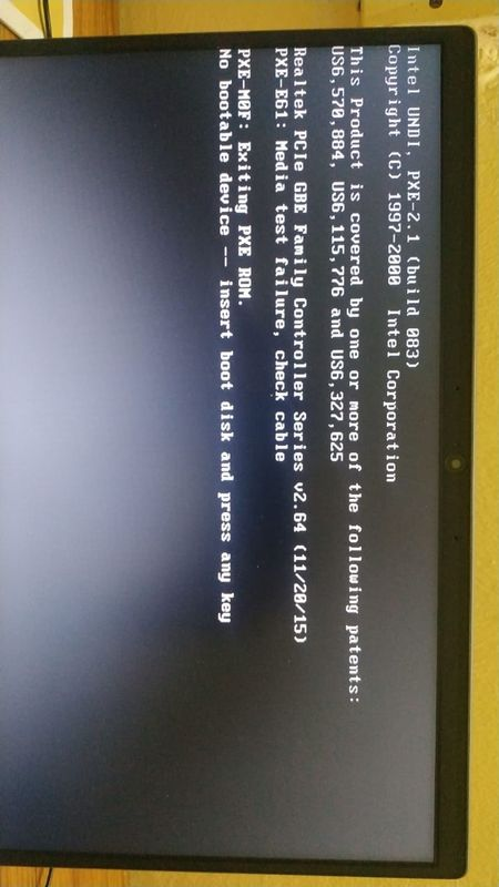 No Bootable Device Insert Boot Disk And Press Any Key Hp Support Community 7576121