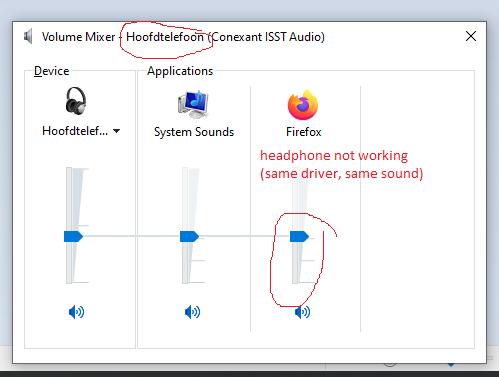 headphone not working