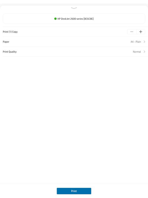 Hp smart app printing settings