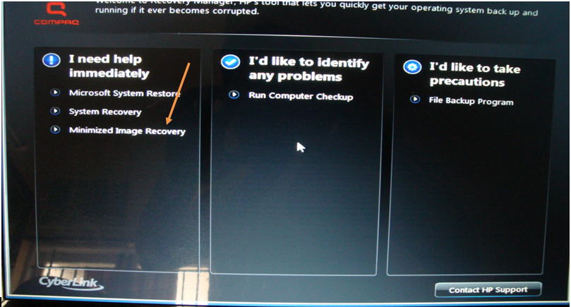 how to recovery windows 7 in hp
