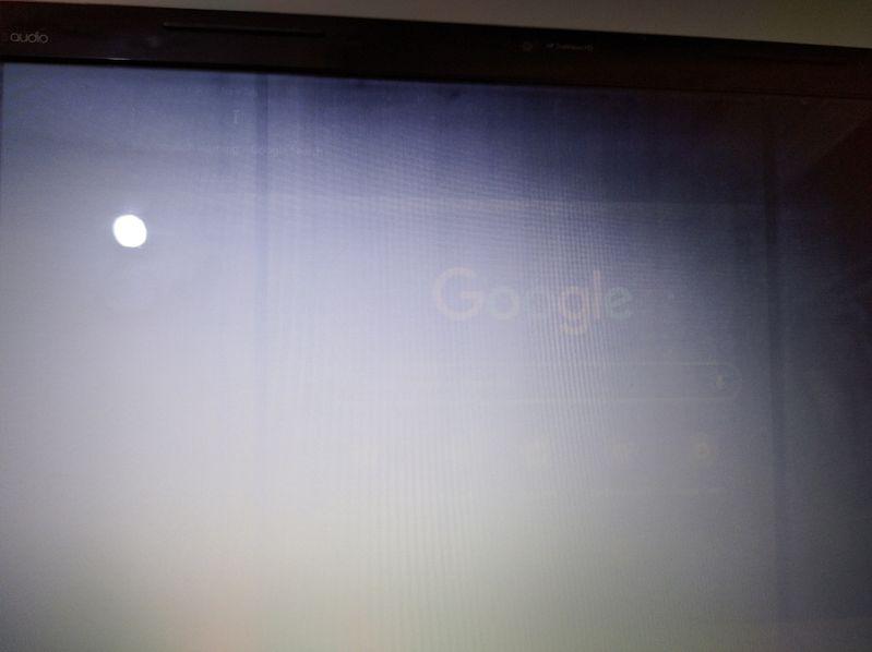 The screen display is frozen1