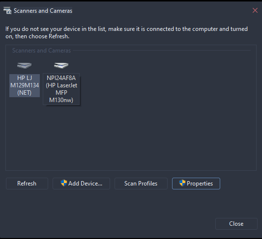 Those two are the same printers, but have two different dpi maximums and seperate options as seen in the photo.