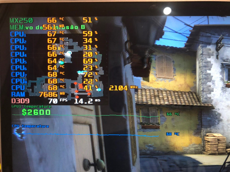 CS in the beginning works fine. CPU clock is good. Framerate is limited to 70 and maintain its constancy