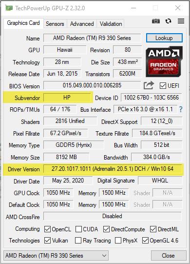 GPU-Z Output