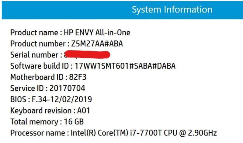 HP envy system description.JPG