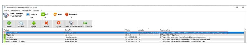 HP - Software desactualizado que ha localizado SUMO.jpg