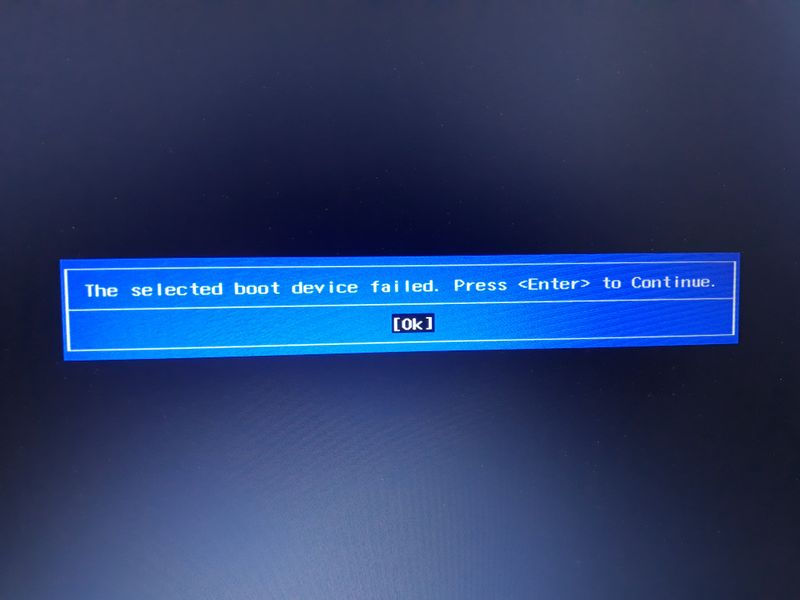 Boot failed from EFI files