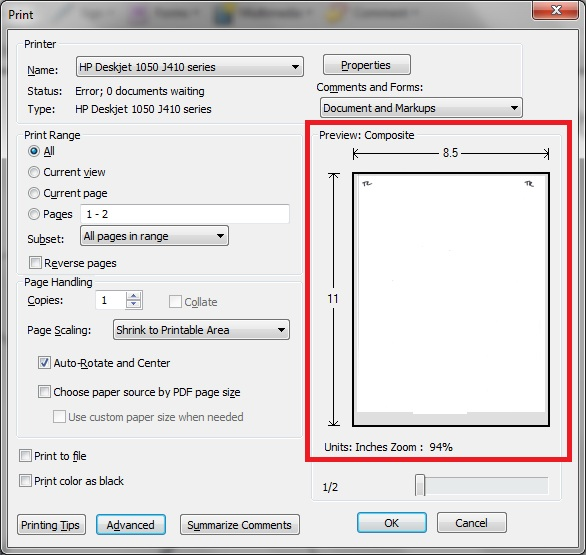 image about Hp Printable titled how can i allow print preview within HP Deskjet 1050 - Web page 2