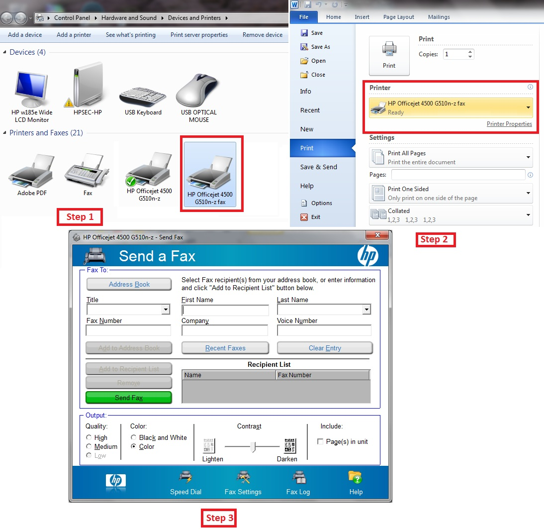 Replace HP Printer Assistant with Microsoft Windows Fax and     - HP
