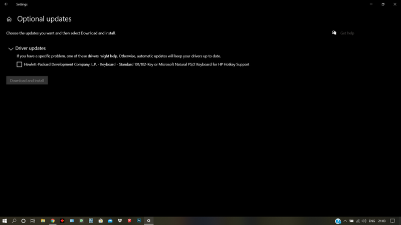 it shows  in installed updates, but the notifiication keeps showing, the omen key also isn't working