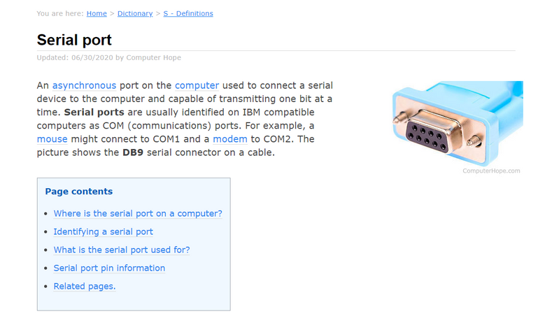 serial port (1 end) - hdmi (other end).. Is there such a cord out there????
