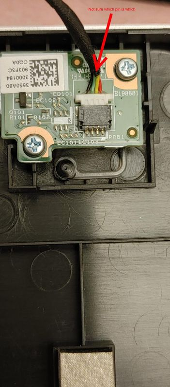 front panel power button board