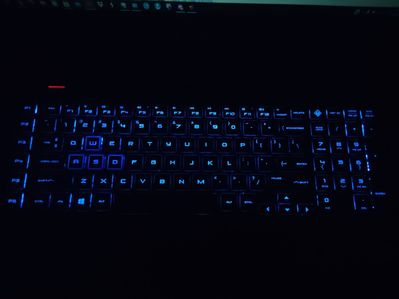 WASD keys set to blue, and the rest set to completely white, yet they're all blue.