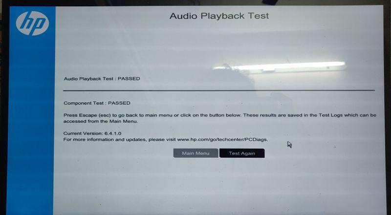 Audio Playback Test