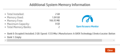 Memory info
