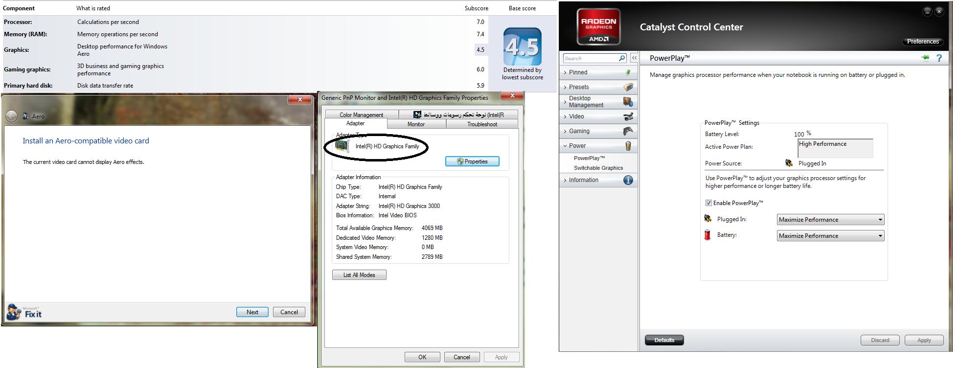How can i increase desktop performance for windows aero.