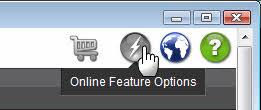 Online Feature Options Button