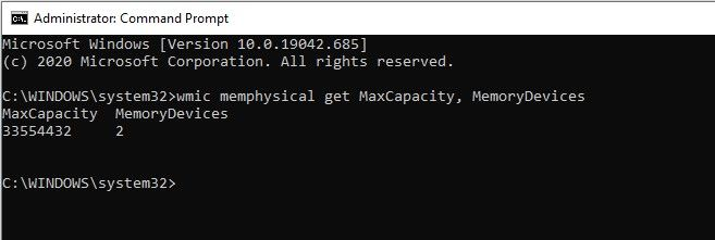 max capacity  in kb but if you convert it to gb it says 32gb