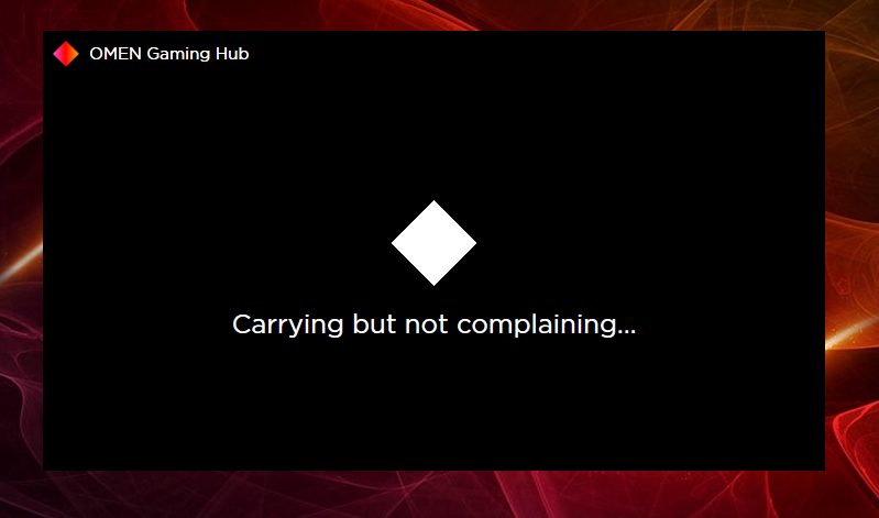 gaming hub stuck.png