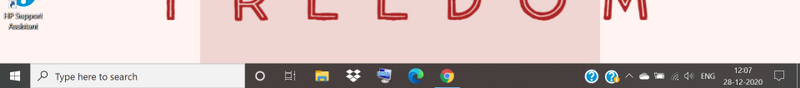2 icons of hp support assistant on right side of taskbar