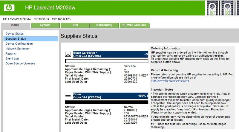 HP CF230X Toner Status 1-6-21.jpg