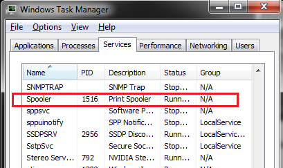 how do i turn on the print spooler? i cannot print anything    - HP